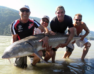 Group Sturgeon Fishing