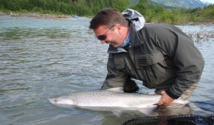 Pitt River Fly Fishing Salmon