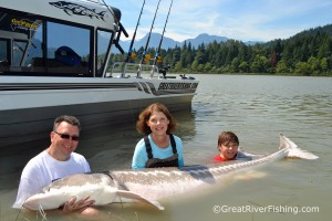Fraser River Fishing with Hunter and the Family