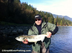 Salmon flyfishing on the Fraser River