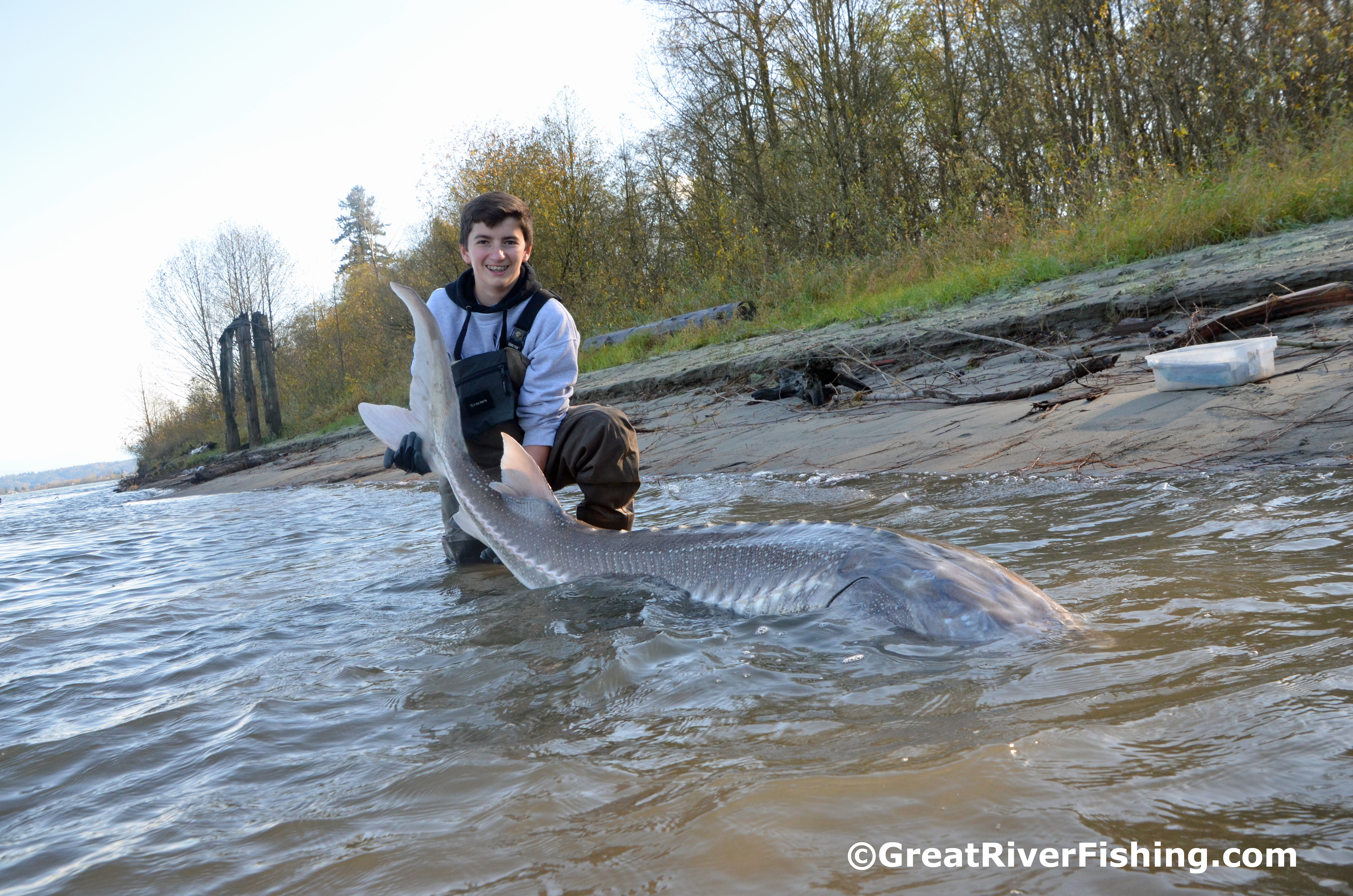 The best way to neutralise fear is by laughing yo by dean for Sturgeon fishing report