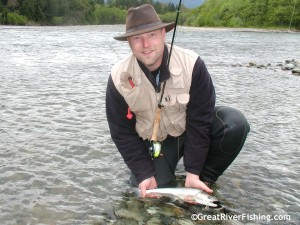Flyfishing on the Lillooet River