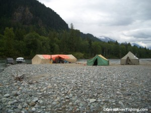 Tent Camp on the Lillooet River