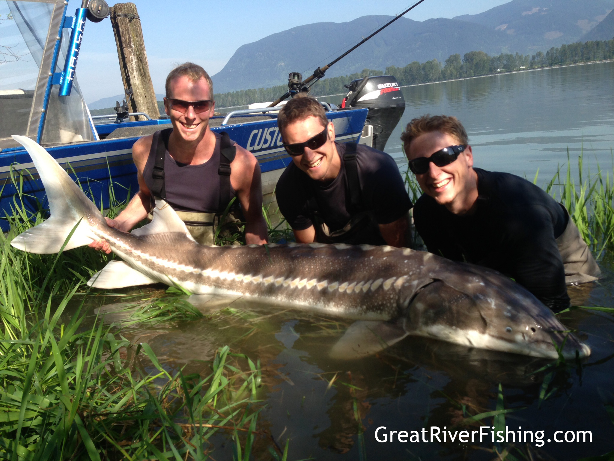 Fishing report vancouver fraser valley 05 24 13 for Sturgeon fishing report