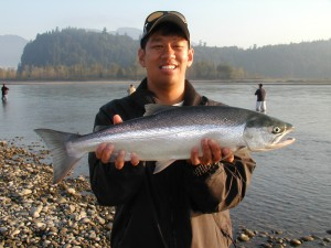 Salmon fishing on the Fraser River