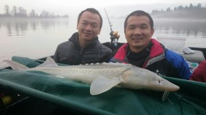 It was a little foggy but the sturgeon were biting