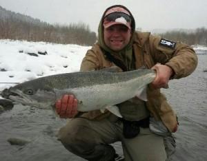 Steelhead fishing on the Vedder River
