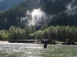 Fly-Fishing on the Upper Pitt River